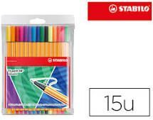 ROTULADOR STABILO POINT 88 15 COLORES JUST LIKE YOU