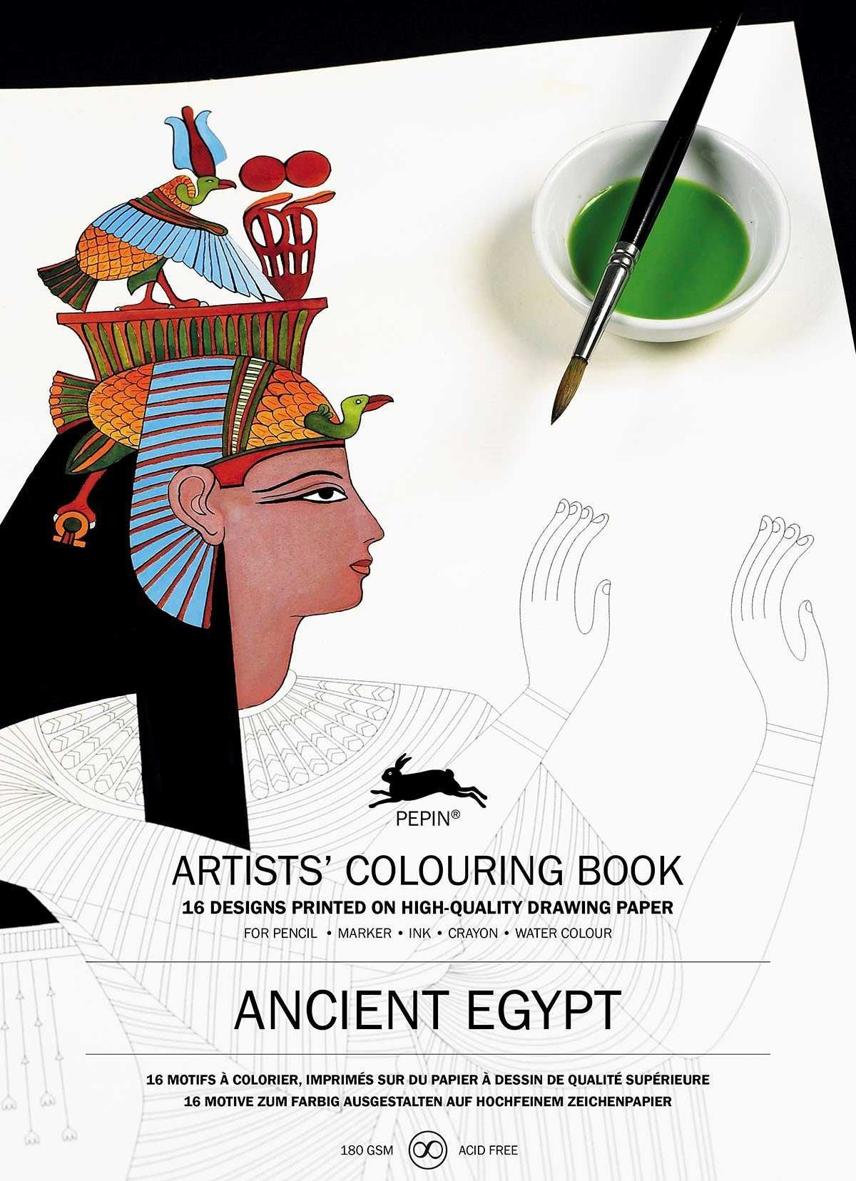 ANCIENT EGYPT ARTISTS' COLOURING BOOK